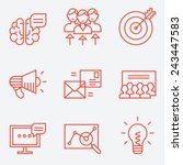marketing icons  thin line... | Shutterstock .eps vector #243447583