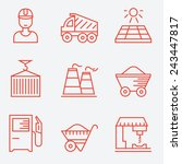 industry icons  thin line style ... | Shutterstock .eps vector #243447817