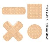 medical bandage symbol set.... | Shutterstock .eps vector #243451213