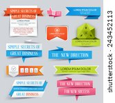 set of website banner. vector... | Shutterstock .eps vector #243452113