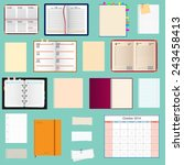 collection of notebooks  | Shutterstock . vector #243458413