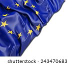 europe flag with white | Shutterstock . vector #243470683