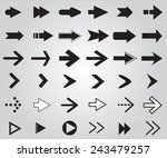 arrows  set.vector illustration. | Shutterstock .eps vector #243479257