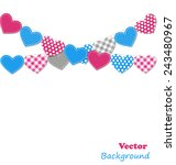stitched hearts buntings... | Shutterstock .eps vector #243480967