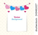 paper frame with stitched... | Shutterstock .eps vector #243481027