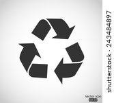 recycle vector icon | Shutterstock .eps vector #243484897