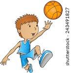 basketball player vector...   Shutterstock .eps vector #243491827