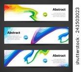set of polygonal vector banners ... | Shutterstock .eps vector #243503023