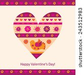 happy valentines day.... | Shutterstock .eps vector #243512983
