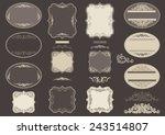 vintage labels. vector set  of...   Shutterstock .eps vector #243514807