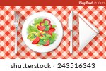 healthy vegetarian food banner... | Shutterstock .eps vector #243516343