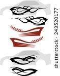 vehicle graphics  stripe  ... | Shutterstock .eps vector #243520177