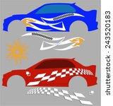 vehicle graphics  stripe  ... | Shutterstock .eps vector #243520183