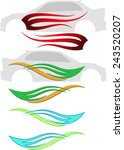 vehicle graphics  stripe  ... | Shutterstock .eps vector #243520207