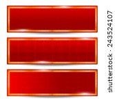 abstract chinese red background ... | Shutterstock .eps vector #243524107