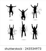 silhouettes for advertising... | Shutterstock .eps vector #243534973