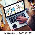 businessman internet online job ...