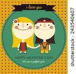 valentine    s day card | Shutterstock .eps vector #243540607