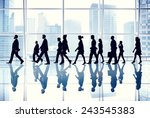 business people walking office... | Shutterstock . vector #243545383