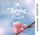 spring blurred background with... | Shutterstock .eps vector #243555703