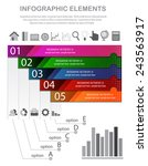 business infographic with... | Shutterstock .eps vector #243563917