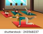 a vector illustration of happy... | Shutterstock .eps vector #243568237