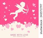 vector st. valentine's day... | Shutterstock .eps vector #243572797