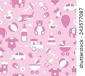 seamless vector baby pattern... | Shutterstock .eps vector #243577087