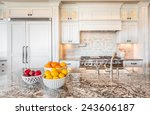 kitchen interior detail in new... | Shutterstock . vector #243606187