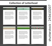 collection of letterheads for... | Shutterstock .eps vector #243610207