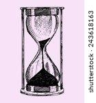 hourglass  doodle style sketch... | Shutterstock .eps vector #243618163