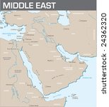 map of middle east | Shutterstock .eps vector #24362320