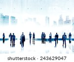 business people aspiration... | Shutterstock . vector #243629047