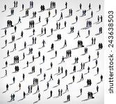 diverse ethnic business... | Shutterstock . vector #243638503
