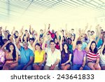 diversity casual team cheerful... | Shutterstock . vector #243641833