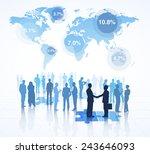 global business market share. | Shutterstock .eps vector #243646093