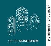 city background   skyscrapers...   Shutterstock .eps vector #243648967