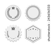 vector white paper labels with... | Shutterstock .eps vector #243656533