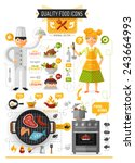 food infographic   flat design... | Shutterstock .eps vector #243664993