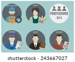 profession people  | Shutterstock .eps vector #243667027