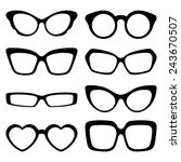 a set of fashionable glasses ... | Shutterstock .eps vector #243670507