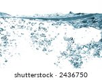 water bubbles isolated on white background - stock photo