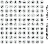 100 crime  justice icons  black ... | Shutterstock .eps vector #243679957