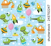 Vector Background With Toys Fo...