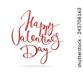 happy valentine's day vector... | Shutterstock .eps vector #243708163