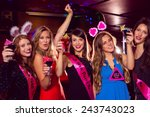 Pretty Friends On A Hen Night...