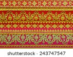 pattern of flower carved on... | Shutterstock . vector #243747547