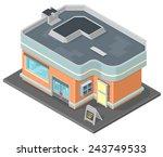 isometric restaurant building... | Shutterstock .eps vector #243749533