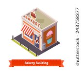 Bakery Shop Building. Flat And...