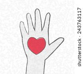 the heart by hand.  vector | Shutterstock .eps vector #243763117